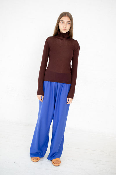 Baserange Puig Turtleneck in Cotton Gaze Turnip Brown | Oroboro Store | New York, NY
