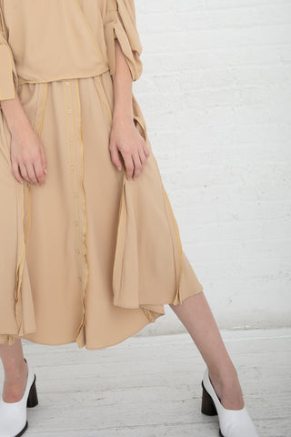 Veronique Leroy Skirt with Ruffles in Straw | Oroboro Store | New York, NY