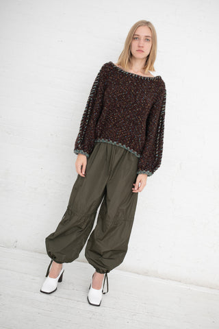 Veronique Leroy Baggy Trouser in Forest | Oroboro Store | New York, NY
