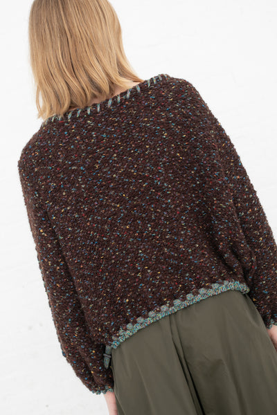 Veronique Leroy Sweater in Multi Brown  | Oroboro Store | New York, NY