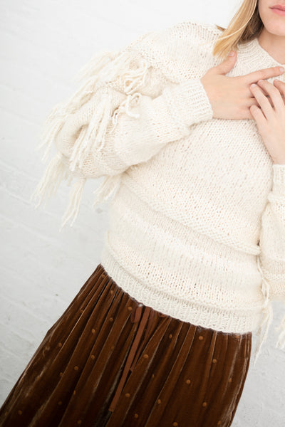 Ulla Johnson Delma Pullover in Cream | Oroboro Store | New York, NY