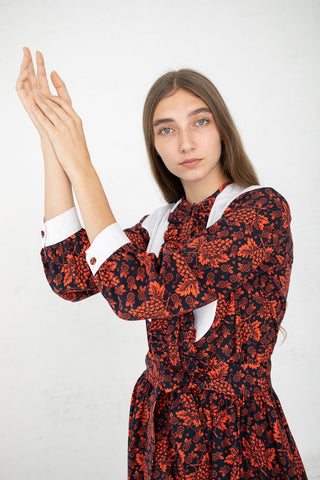 Batsheva Western Dress in Red Grapes | Oroboro Store | New York, NY