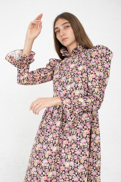 Batsheva Prairie Dress in Rose Floral | Oroboro Store | New York, NY