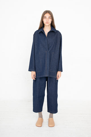 Lauren Manoogian Denim Pantaloon in Indigo | Oroboro Store | New York, NY