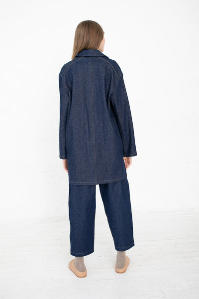 Lauren Manoogian Denim Chore Shirt in Indigo | Oroboro Store | New York, NY