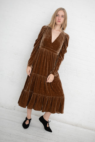 Ulla Johnson Shani Dress in Bronze | Oroboro Store | New York, NY