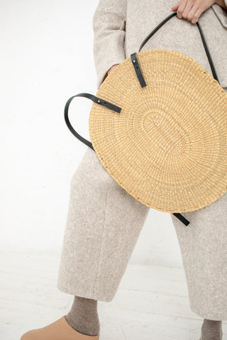 Inès Bressand Akamae Basket No. 9 - Oval Backpack in Elephant Grass | Oroboro Store | New York, NY