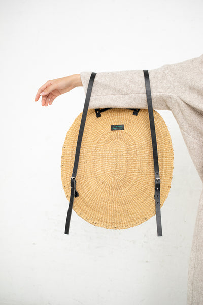 In̬s Bressand Akamae Basket No. 9 - Oval Backpack in Elephant Grass | Oroboro Store | New York, NY