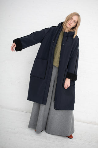Samuji Stormy Coat in Dark Navy | Oroboro Store | New York, NY