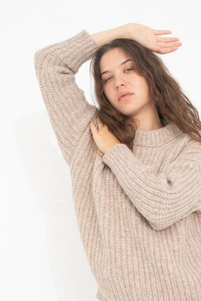 Lauren Manoogian Fisherman Pullover in Sesame | Oroboro Store | New York, NY