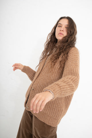 Lauren Manoogian Grandma Cardigan in Camel | Oroboro Store | New York, NY