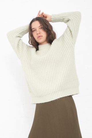 Lauren Manoogian Fisherman Pullover in Celery | Oroboro Store | New York, NY