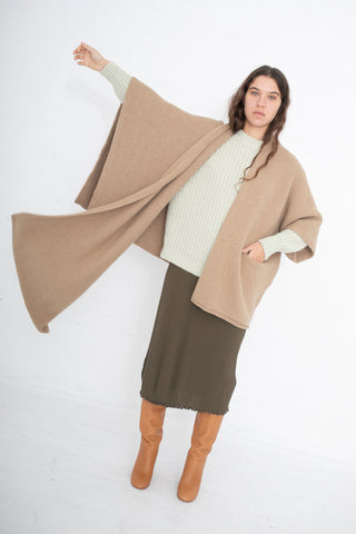Lauren Manoogian Wrap Poncho in Sand | Oroboro Store | New York, NY