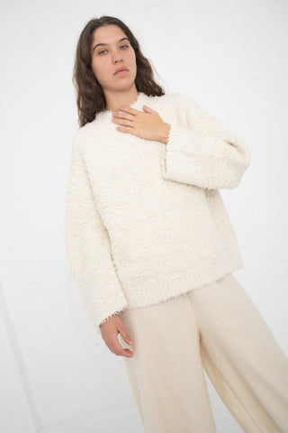 Lauren Manoogian Sherpa Crewneck in Off White | Oroboro Store | New York, NY
