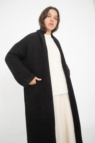 Lauren Manoogian Long Shawl Cardigan in Caviar | Oroboro Store | New York, NY