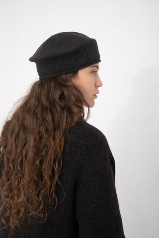 Lauren Manoogian Beret in Caviar | Oroboro Store | New York, NY
