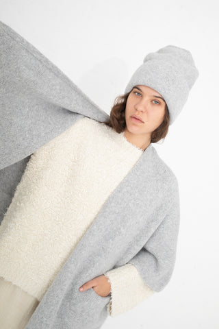 Lauren Manoogian Wrap Poncho in Blue Grey | Oroboro Store | New York, NY