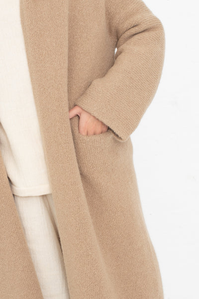 Lauren Manoogian Long Shawl Cardigan in Sand | Oroboro Store | New York, NY