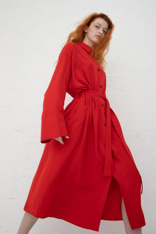 Nehera Daloub Dress in Scarlet Red | Oroboro Store | New York, NY