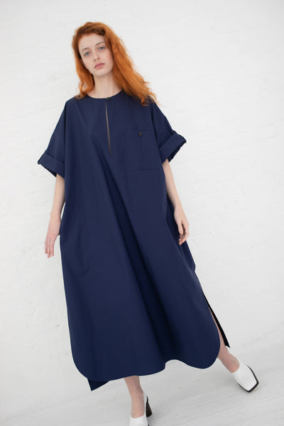 Nehera Doyet Dress in Dark Blue | Oroboro Store | New York, NY