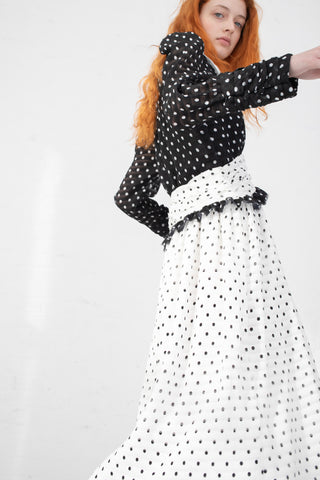 Rejina Pyo Yvette Dress in Black & White | Oroboro Store | New York, NY