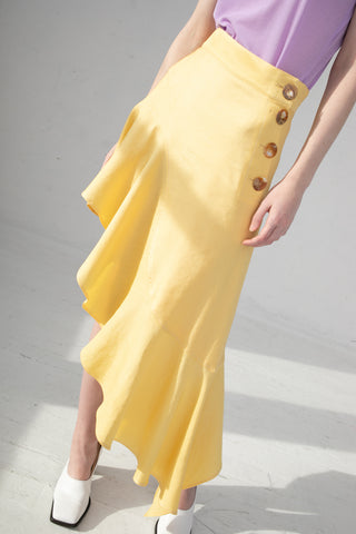 Rejina Pyo Ella Skirt in Butter Yellow | Oroboro Store | New York, NY