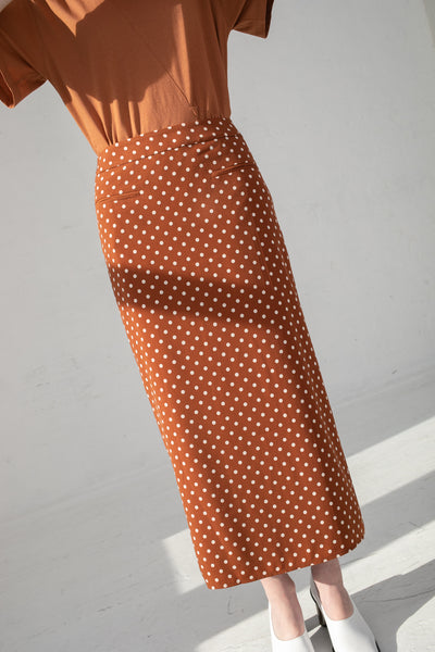 Rejina Pyo Mina Skirt in Chesnut | Oroboro Store | New York, NY