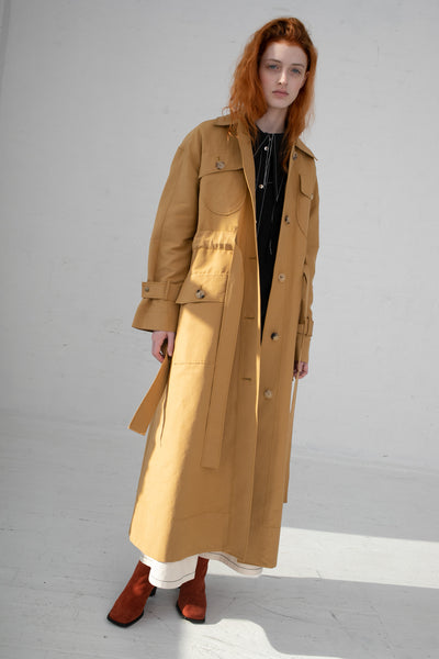 Rejina Pyo Ava Trench in Camel | Oroboro Store | New York, NY