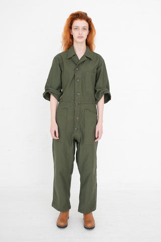 As Ever Button jumpsuit  in Olive | Oroboro Store | New York, NY