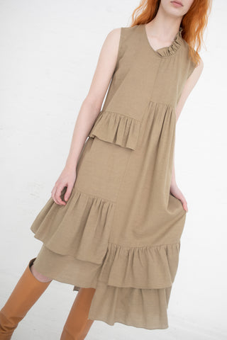 Correll Correll Rosch Dress in Beige | Oroboro Store | New York, NY