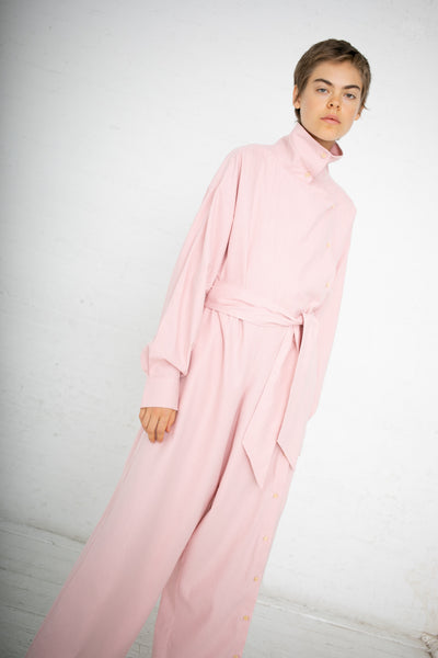 Baserange Aorta Jumpsuit in Lumbar Pink / Raw Silk | Oroboro Store | New York, NY