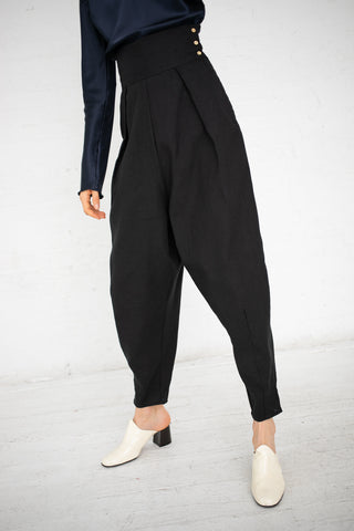 Baserange Dydine Pants in Black / Linen Cotton | Oroboro Store | New York, NY