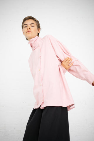 Baserange Aorta Shirt in Lumbar Pink / Raw Silk | Oroboro Store | New York, NY