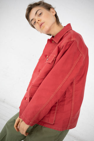 Chimala Hunting Jacket - Heavy Moleskin in Red | Oroboro Store | New York, NY