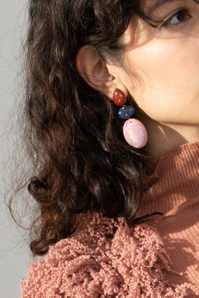 Jessica Winzelberg Mobile Earrings in Jasper, Sodalite & Rhodonite | Oroboro Store | New York, NY