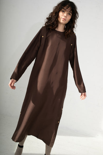 Baserange Sol Dress in Carpet Brown | Oroboro Store | New York, NY