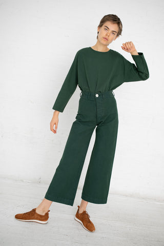Jesse Kamm Sailor Pant in Forest Service Green | Oroboro Store | New York, NY