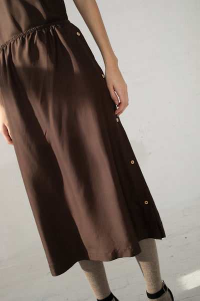 Baserange Sol Skirt in Carpet Brown | Oroboro Store | New York, NY