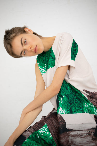 A Detacher Danuta Dresss in Rocks Print | Oroboro Store | New York, NY