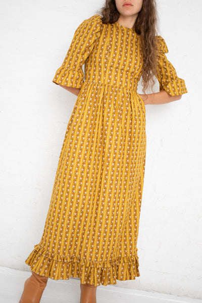 Batsheva Long Spring Prairie Dress in Yellow Sunflower | Oroboro Store | New York, NY