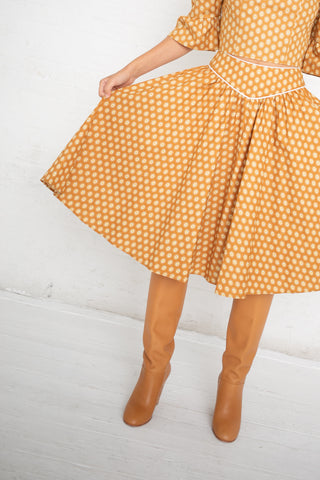 Batsheva Flared Skirt in Yellow Medallion | Oroboro Store | New York, NY