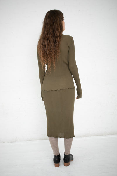 Lauren Manoogian Accordion Skirt in Olive | Oroboro Store | New York, NY