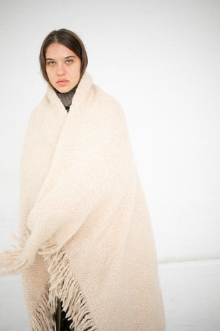 Lauren Manoogian Handwoven Brushed Blanket in Beige | Oroboro Store | New York, NY