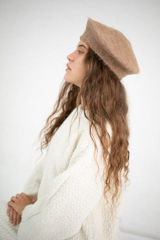 Lauren Manoogian Beret in Camel | Oroboro Store | New York, NY