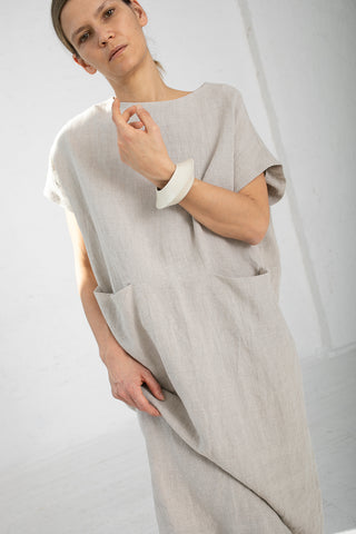 Lauren Manoogian Pocket Caftan in Flax | Oroboro Store | New York, NY