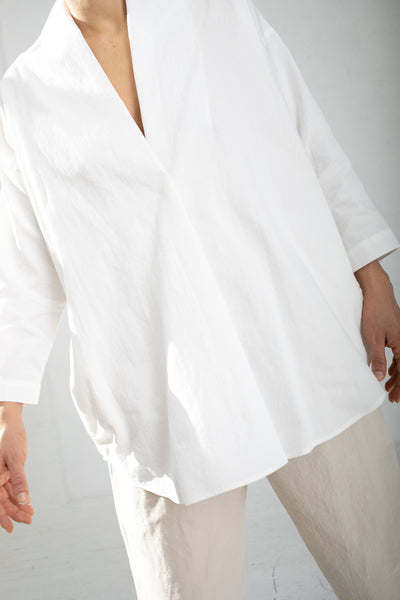 Lauren Manoogian Shawl Shirt in Shoji | Oroboro Store | New York, NY