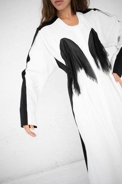 Yulia Kondranina Contrast Long Dress in White/Black | Oroboro Store | New York, NY