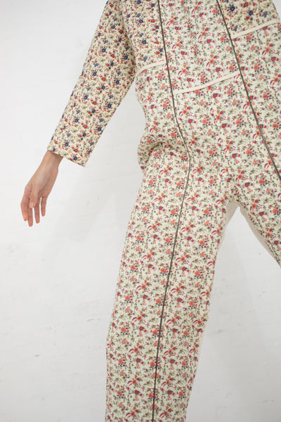 Caron Callahan Ace Quilted Jumpsuit in Lawn Floral Combo | Oroboro Store | New York, NY