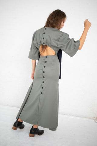Yulia Kondranina Maxi Dress in Olive/Navy | Oroboro Store | New York, NY
