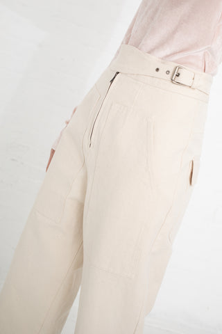 Caron Callahan Emi Pant in Cream | Oroboro Store | New York, NY
